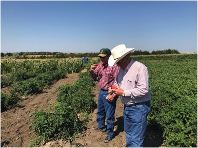 Southern Colorado producers on a soil health tour in South Dakota at Rilling Farm