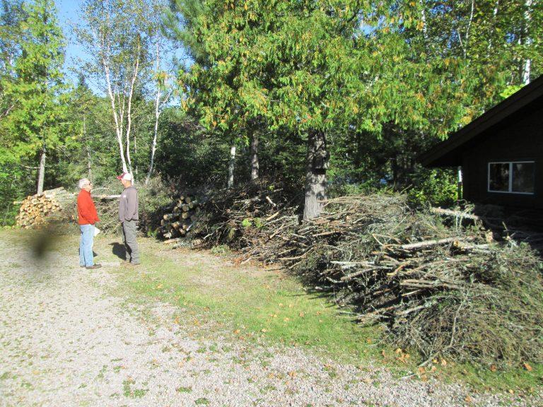 Landowner debris pile